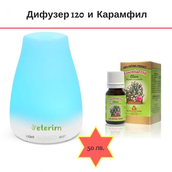 дифузер за етерични масла и ароматерапия ETERIM