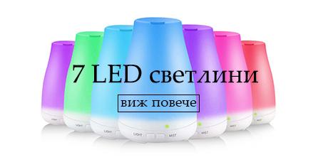 7 LED светлини с дифузер етерим