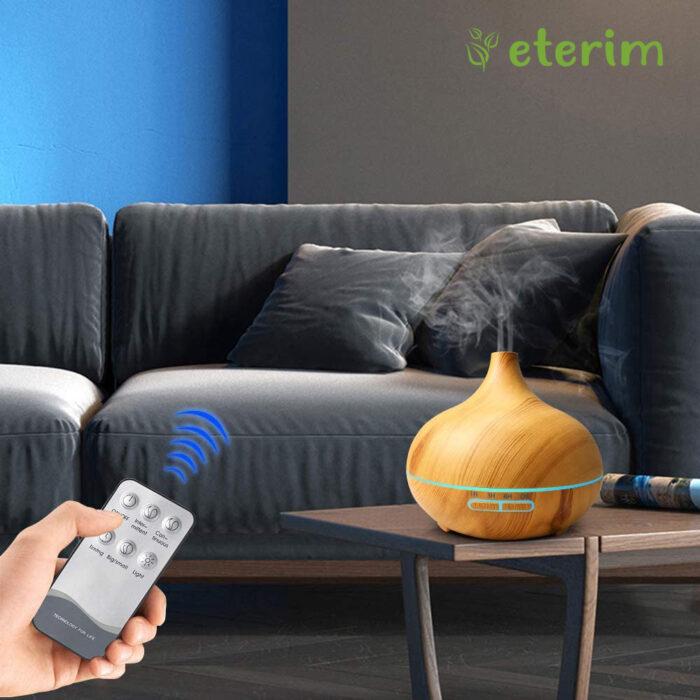 Дифузер за ароматерапия с етерични масла ЕТЕРИМ 300 светло с дистанционно управление