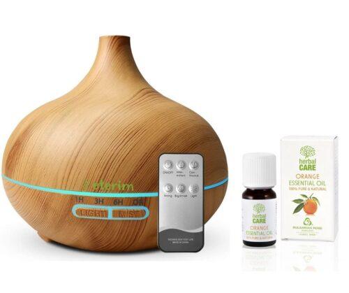 Дифузер за ароматерапия Етерим 300 светло с етерично масло от портокал