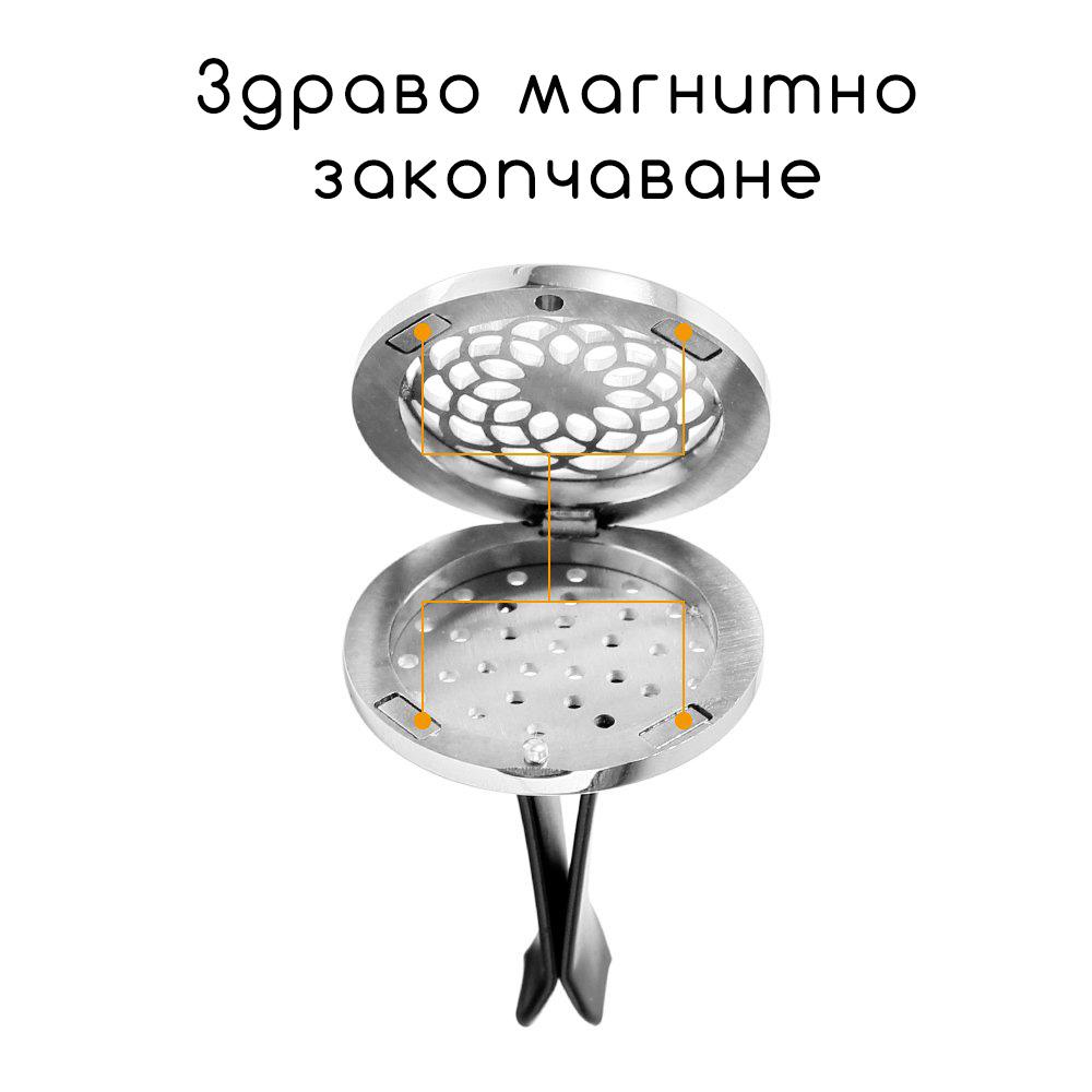 Магнитен ароматизатор за кола с етерични масла от ETERIM