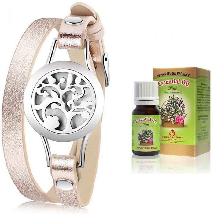 розова гривна с етерични масла и борово етерично масло ETERIM