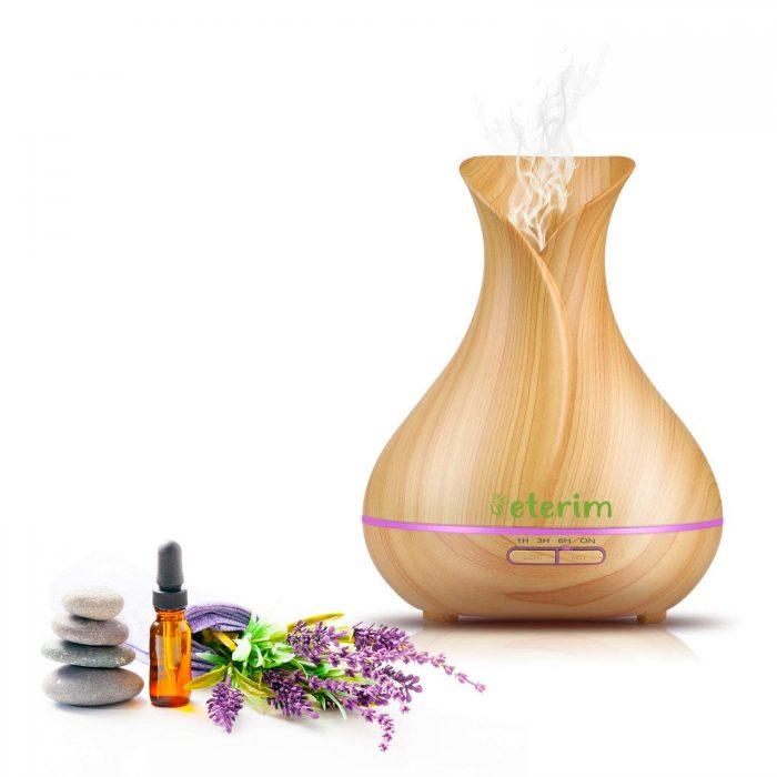 Дифузер с етерични масла за ароматерапия Етерим светла ваза 300 мл.