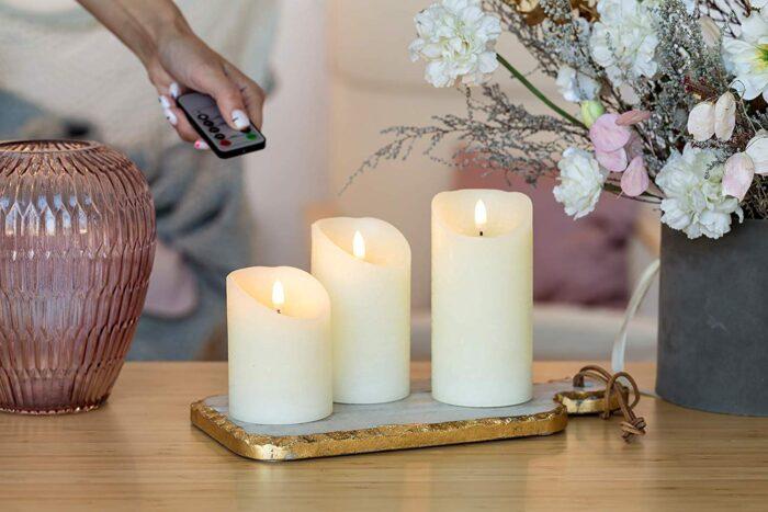 LED свещи без пламък с батерия ETERIM